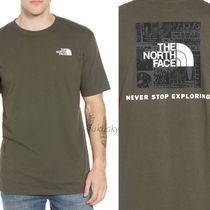 THE NORTH FACE Crew Neck Street Style Short Sleeves Crew Neck T-Shirts