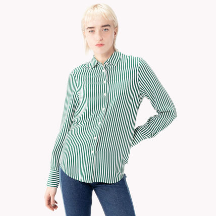 de2648bbbe5a5 ... Tommy Hilfiger Cropped Short Stripes Unisex Street Style Long Sleeves  Cotton 3 ...