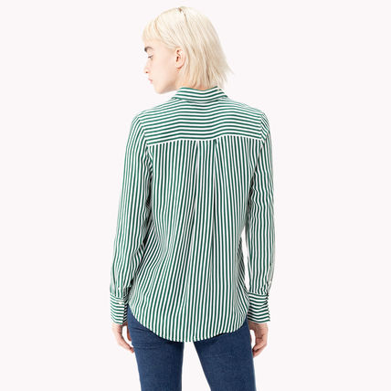 18259c0231142 ... Tommy Hilfiger Cropped Short Stripes Unisex Street Style Long Sleeves  Cotton 4 ...