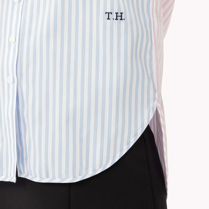 7beedc7c2a438 ... Tommy Hilfiger Cropped Short Stripes Unisex Street Style Long Sleeves  Cotton 6 ...