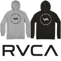 RVCA Pullovers Street Style Long Sleeves Cotton Hoodies
