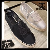 CHANEL Casual Style Plain Handmade Flats