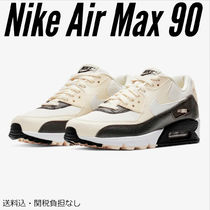 Nike AIR MAX 90 Round Toe Rubber Sole Lace-up Casual Style Low-Top Sneakers