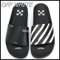 Off-White Stripes Unisex Street Style Sandals