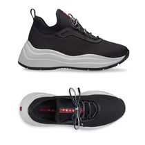 PRADA Lace-up Street Style Plain Low-Top Sneakers