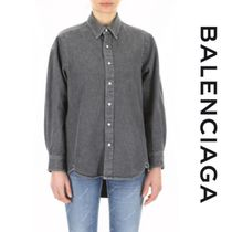 BALENCIAGA Casual Style Long Sleeves Cotton Medium Shirts & Blouses