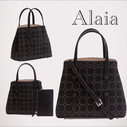 Suede Studded 2WAY Elegant Style Totes