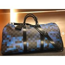 Louis Vuitton DAMIER GRAPHITE Other Check Patterns Unisex Canvas Blended Fabrics