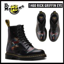 Dr Martens Plain Toe Unisex Street Style Collaboration Leather