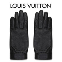 Louis Vuitton MONOGRAM Leather Leather & Faux Leather Gloves