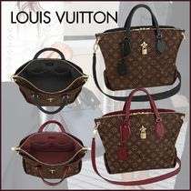 Louis Vuitton MONOGRAM Monogram Canvas Blended Fabrics 2WAY Bi-color Elegant Style