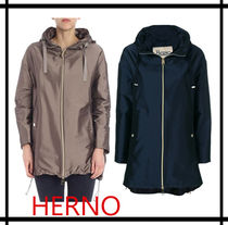HERNO Plain Medium Elegant Style Coats