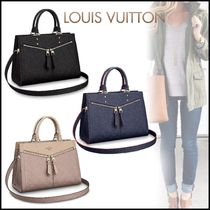 Louis Vuitton MONOGRAM EMPREINTE Monogram Blended Fabrics 2WAY Bi-color Leather Elegant Style