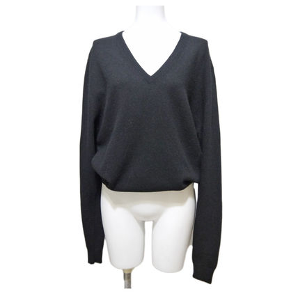 e0b557bfcdec ... PRADA Sweaters Wool V-Neck Long Sleeves Plain Medium Office Style  Sweaters ...