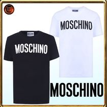 Moschino Crew Neck Cotton Short Sleeves Crew Neck T-Shirts