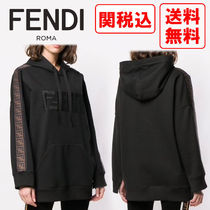 FENDI Unisex Street Style Long Sleeves Cotton Medium Oversized