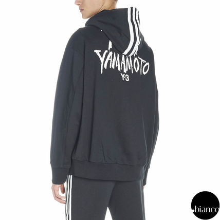 Y-3 Hoodies Street Style Long Sleeves Cotton Oversized Hoodies 8