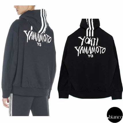 Y-3 Hoodies Street Style Long Sleeves Cotton Oversized Hoodies