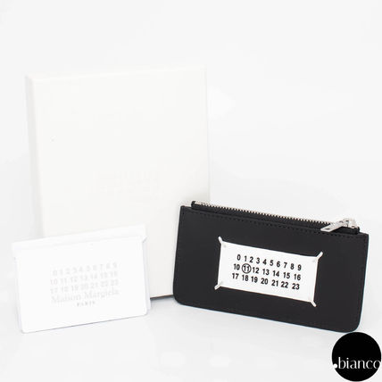 Unisex Calfskin Street Style Plain Card Holders