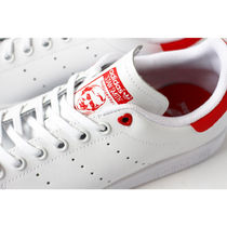 adidas STAN SMITH Heart Casual Style Low-Top Sneakers