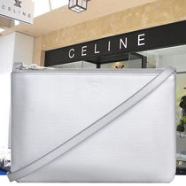CELINE Trio Bag Casual Style Calfskin 2WAY Plain Shoulder Bags