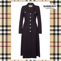 Burberry Wool Long Elegant Style Coats