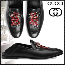 GUCCI Loafers Other Animal Patterns Leather Loafers & Slip-ons