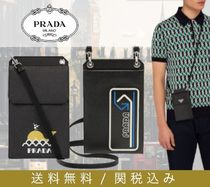 PRADA SAFFIANO LUX Street Style Plain Leather Smart Phone Cases