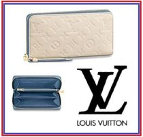Louis Vuitton ZIPPY WALLET Monogram Tassel Plain Leather Long Wallets