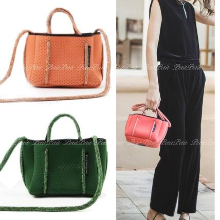 Casual Style Collaboration 2WAY Plain Shoulder Bags