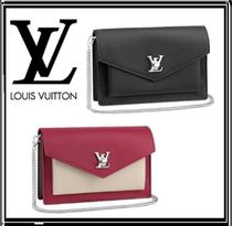 Louis Vuitton LOCKME Monogram Calfskin Blended Fabrics Shoulder Bags