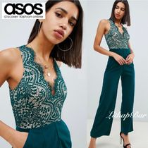 ASOS Dungarees Sleeveless V-Neck Long Party Style Lace Dresses