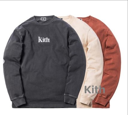 KITH NYC Long Sleeve Crew Neck Street Style Long Sleeves Cotton
