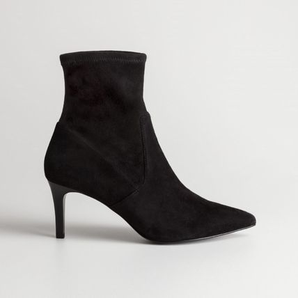 f834c2f8a ... Boots & Other Stories Ankle & Booties Casual Style Suede Plain Pin  Heels Ankle & Booties ...