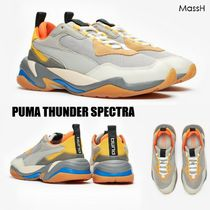 PUMA THUNDER SPECTR Unisex Blended Fabrics Street Style Leather Sneakers
