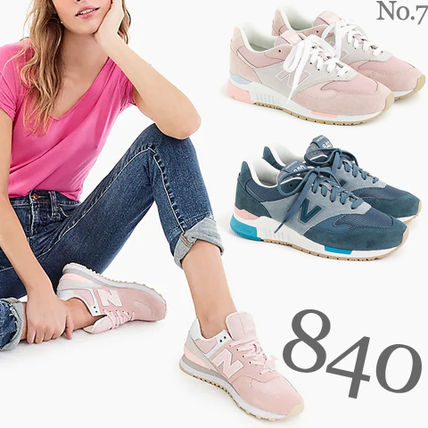 Round Toe Casual Style Street Style Plain Low-Top Sneakers