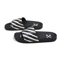 Off-White Street Style Shower Shoes PVC Clothing Shower Sandals