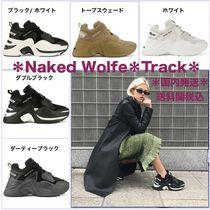 Naked Wolfe Platform Plain Toe Casual Style Bi-color Leather