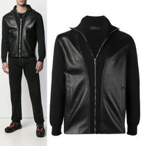 PRADA Plain Leather Jackets