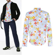 PRADA Flower Patterns Long Sleeves Cotton Shirts