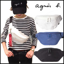 Agnes b Casual Style Unisex Plain Crossbody Logo Shoulder Bags