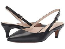 Cole Haan Plain Leather Office Style Pointed Toe Pumps & Mules