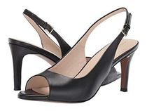 Cole Haan Open Toe Plain Leather Party Style Peep Toe Pumps & Mules