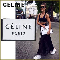 CELINE Casual Style Unisex Canvas Blended Fabrics Street Style A4