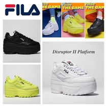 FILA Platform Casual Style Street Style Leather