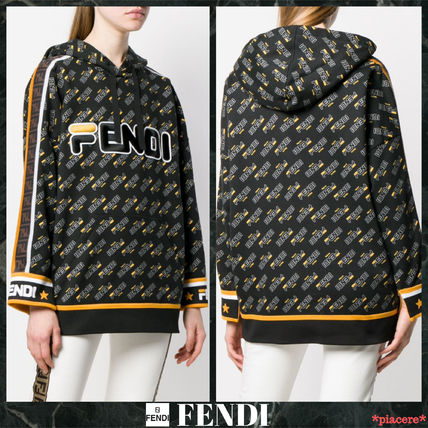 7a19c889e4 ... FENDI Hoodies   Sweatshirts Monogram Street Style Long Sleeves Cotton  Medium ...
