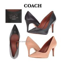 Coach Blended Fabrics Plain Leather Elegant Style
