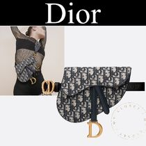 Christian Dior Casual Style Blended Fabrics Street Style 2WAY Leather Logo