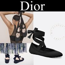 Christian Dior Street Style Plain Ballet Shoes