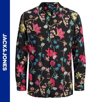 Flower Patterns Street Style Long Sleeves Shirts